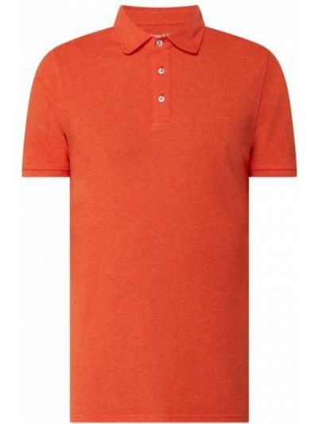 Pomarańczowy t-shirt bawełniany Bruun & Stengade