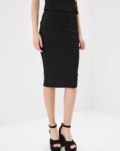 Черная юбка облегающая Lost Ink.