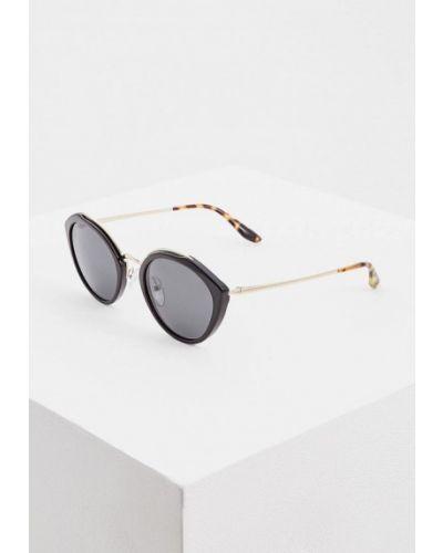 Солнцезащитные очки круглые черные Prada