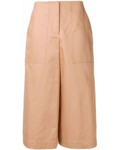Укороченные брюки свободные с карманами Jil Sander Navy