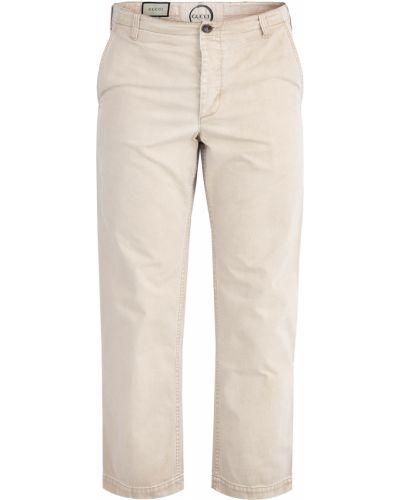 Прямые джинсы укороченные с аппликацией Gucci