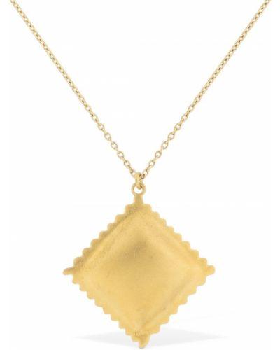 Żółty złoty naszyjnik Trine Tuxen