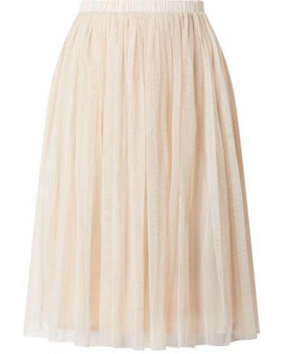 Różowa spódnica midi rozkloszowana tiulowa Lace & Beads