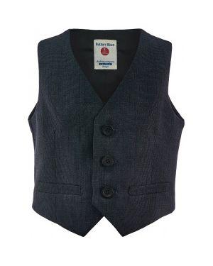 Жилетка костюмная классическая Button Blue