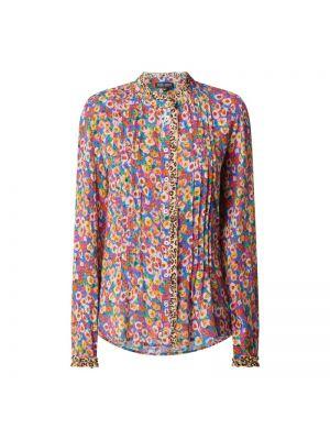 Niebieska bluzka z długimi rękawami z wiskozy Risy & Jerfs
