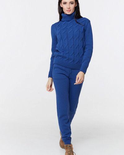 Синий вязаный костюм Brunello De Neri