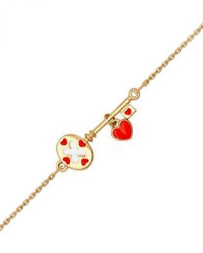 Золотой браслет с подвесками из золота цветной Sokolov