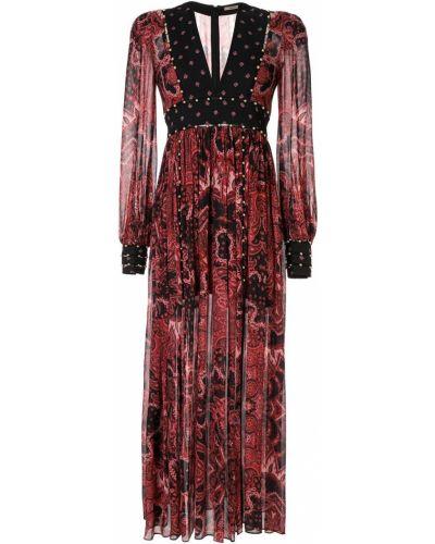 Платье макси розовое плиссированное Thurley