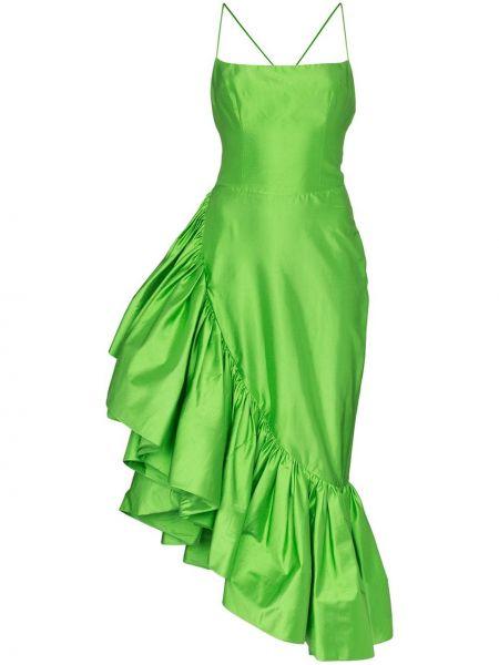 Sukienka zielona z jedwabiu Rasario