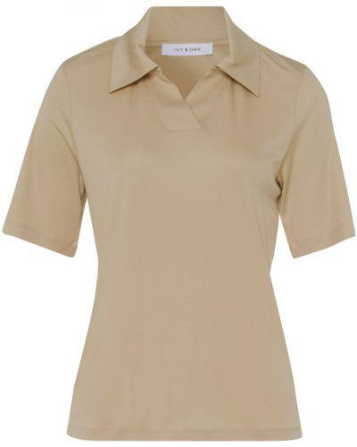 Beżowy t-shirt Ivy & Oak