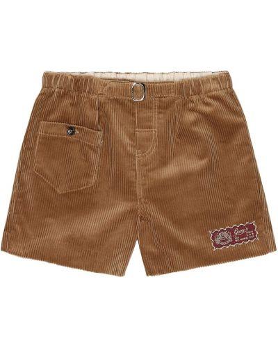 Miękki bawełna bawełna brązowy szorty Gucci Kids