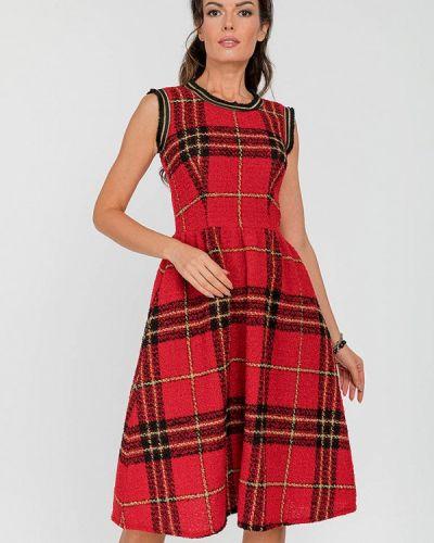 Прямое красное платье Clever Woman Studio