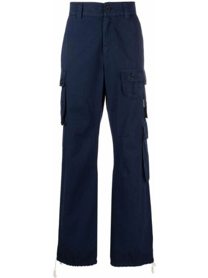 Spodnie z wysokim stanem - niebieskie Palm Angels