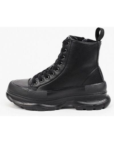 Кожаные ботинки - черные Strobbs