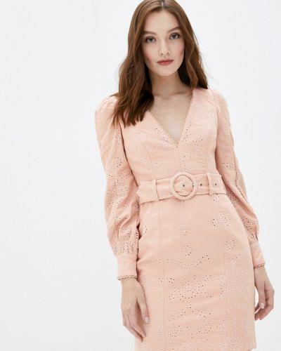 Прямое розовое платье True Decadence