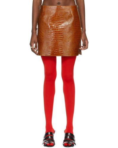 Brązowa spódnica srebrna Givenchy