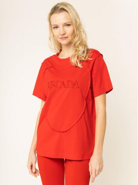 Czerwona t-shirt Escada Sport
