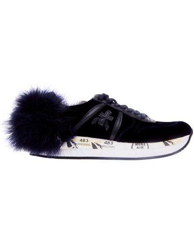 Кроссовки на платформе кожаные на шнуровке Premiata