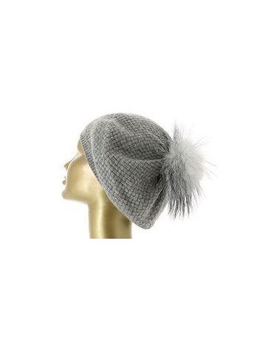 Серая кашемировая шапка William Sharp