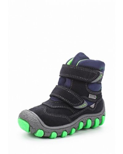 Синие ботинки замшевые Bartek