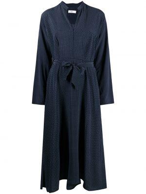 Расклешенное синее платье миди с вырезом Closed