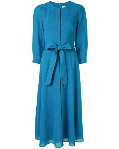 Платье миди с вырезом с поясом Cefinn