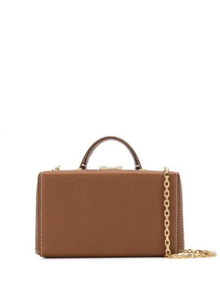 Золотистая коричневая поясная сумка с помпоном с поясом Mark Cross