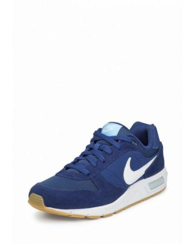 Синие кроссовки замшевые Nike