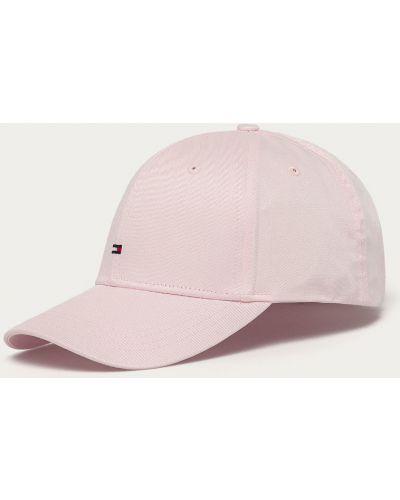 Różowy kapelusz bawełniany Tommy Hilfiger
