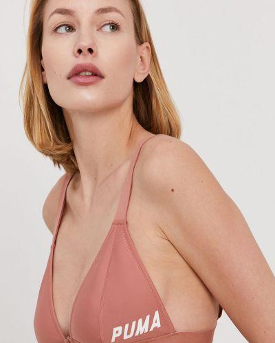 Różowy strój kąpielowy z printem Puma