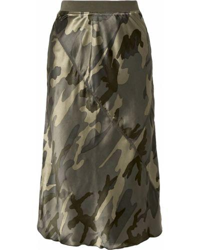 Армейская сатиновая зеленая юбка Atm Anthony Thomas Melillo
