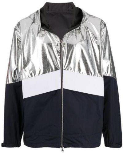 Biała długa kurtka z kapturem oversize Moncler