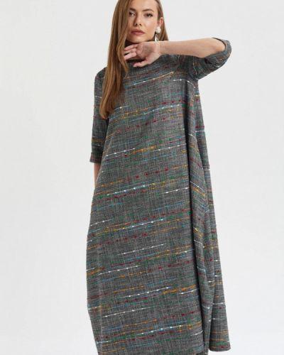Повседневное платье серое осеннее Akimbo