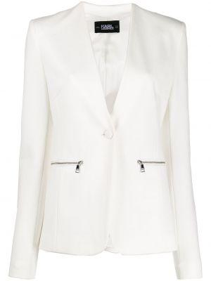 Пиджак белый на молнии Karl Lagerfeld