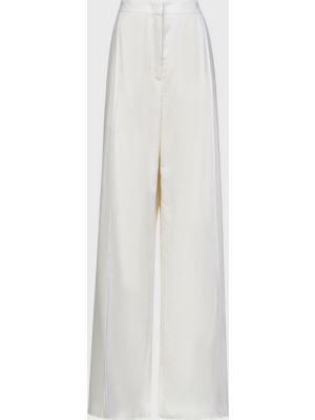 Шерстяные белые брюки на молнии Agnona