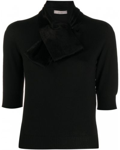 С рукавами шерстяной черный джемпер в рубчик D.exterior