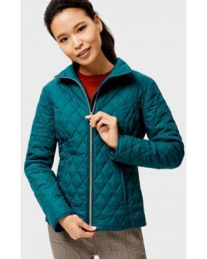 Зеленая нейлоновая куртка на молнии с воротником Ostin