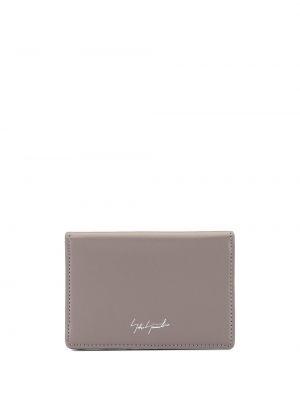 Кожаный коричневый кошелек со шлицей Discord Yohji Yamamoto