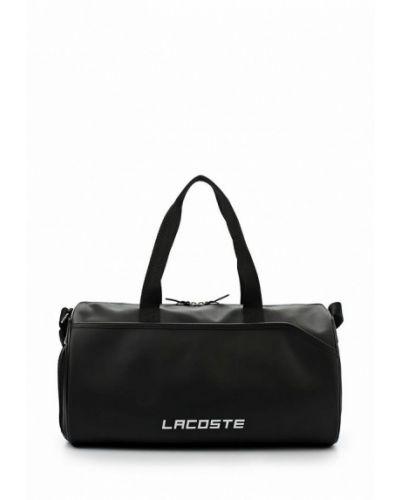 Черная дорожная сумка Lacoste