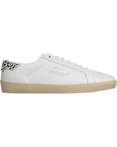 Sneakersy - białe Saint Laurent