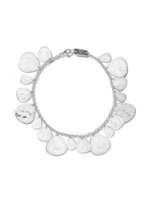 Тонкий серебряный браслет металлический Ippolita