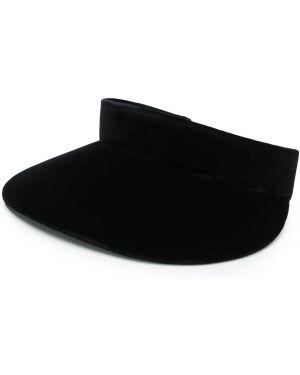 Daszek czarny z logo Prada