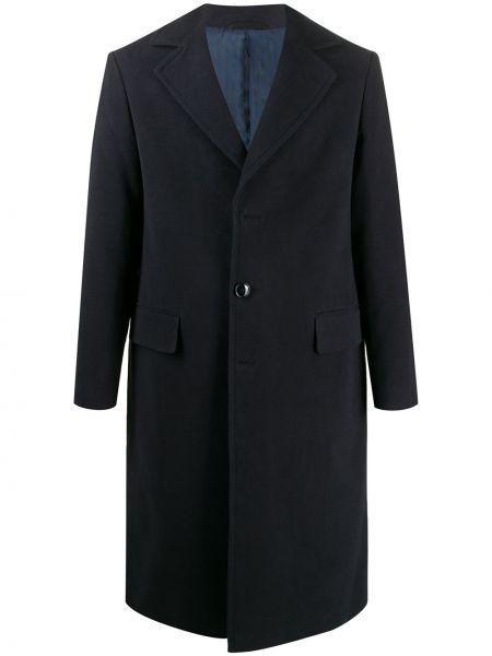 Klasyczny niebieski płaszcz bawełniany Mp Massimo Piombo