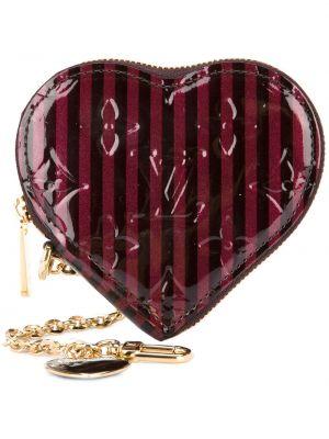 Красный кожаный кошелек для монет на молнии Louis Vuitton