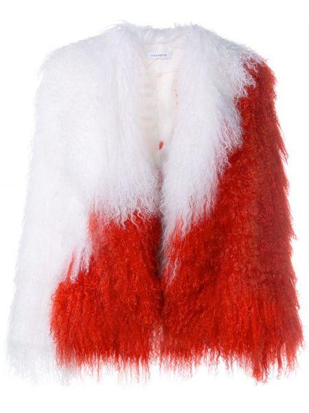 Открытая белая куртка из овчины Saks Potts