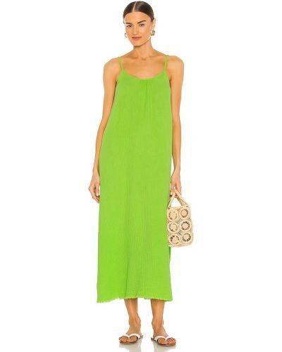 Зеленое текстильное платье макси Nation Ltd