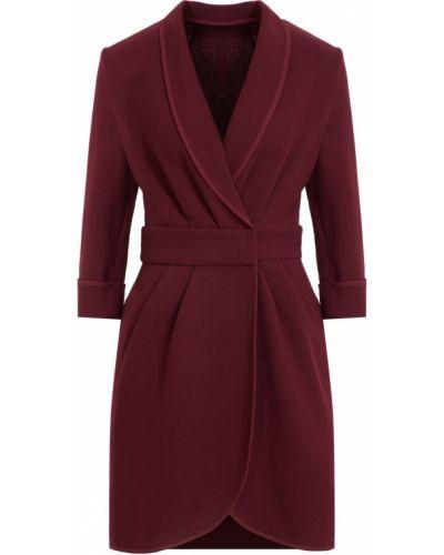 Шерстяное бордовое платье мини Laroom