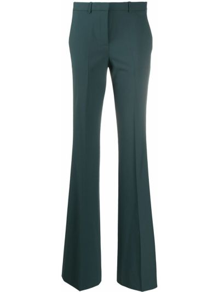 Шерстяные расклешенные брюки с высокой посадкой с потайной застежкой Theory