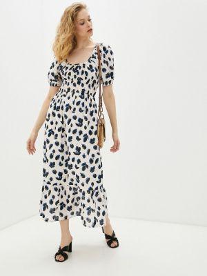 Прямое бежевое платье А-силуэта Compania Fantastica