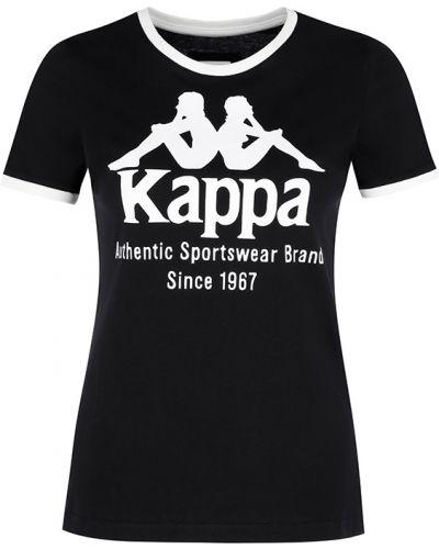 Хлопковая футболка - черная Kappa